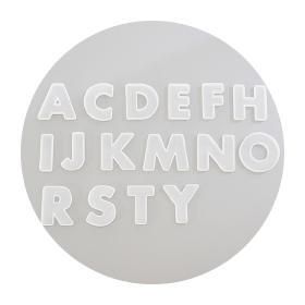 シリコン型 アルファベット16個セット
